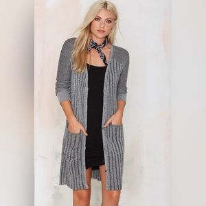 Knit Ribbed Duster Cardigan
